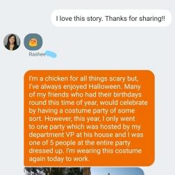 Nancy's Group costume is CUTE