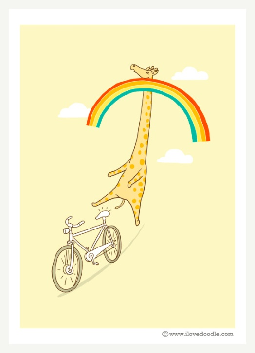 Giraffe-on-bike