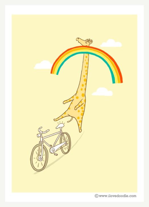Giraffe-on-bike